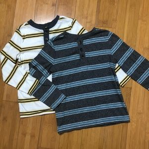lot of 2 Old Navy Striped Long Sleeve Henley 5T